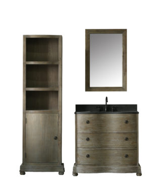 WN7136 WITH MIRROR WN7124-M AND SIDE CABINET WN7126