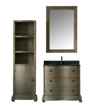 WN7136 WITH MIRROR WN7131-M AND SIDE CABINET WN7126-MED