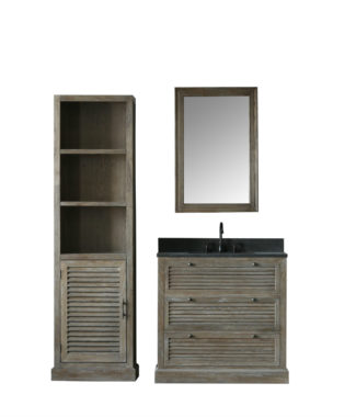 WN7236 WITH MIRROR WN7224-M AND SIDE CABINET 7224-MED