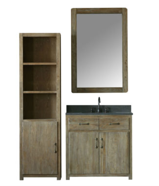 WN7336 WITH MIRROR WN7331-M AND SIDE CABINET WN7322-MED