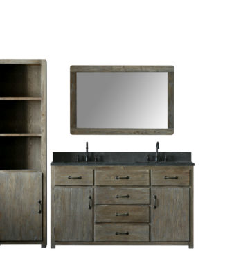 WN7360 WITH MIRROR WN7331-M AND SIDE CABINET WN7322-MED