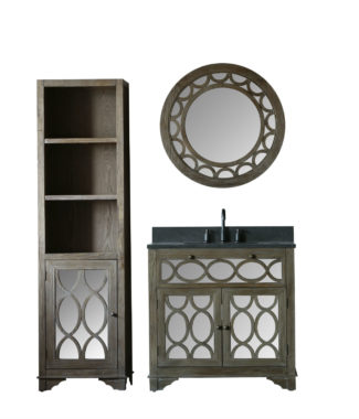 WN7436 WITH MIRROR WN7401-M AND SIDE CABINET WN7424-MED