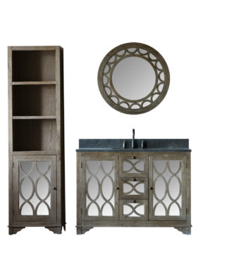 WN7448 WITH MIRROR WN7401-M AND SIDE CABINET WN7424-MED
