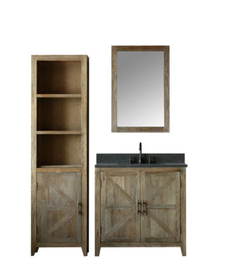 WN7536 WITH MIRROR WN7524-M AND SIDE CABINET WN7522-MED