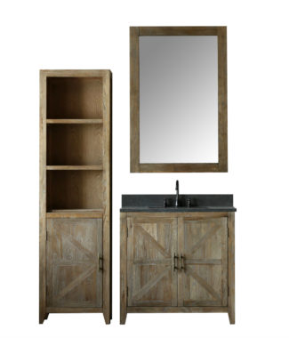 WN7536 WITH MIRROR WN7531-M AND SIDE CABINET WN7522-MED