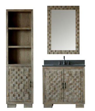 WN7636 WITH MIRROR WN7631-M AND SIDE CABINET WN7622-MED