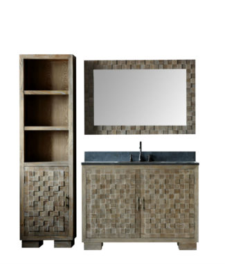 WN7648 WITH MIRROR WN7631-M AND SIDE CABINET WN7622-MED