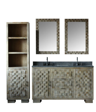 WN7660 WITH TWO MIRRORS WN7624-M AND SIDE CABINET WN7622-MED