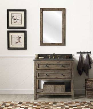 WH8036-BR WITH MIRROR WH8224-M-MED