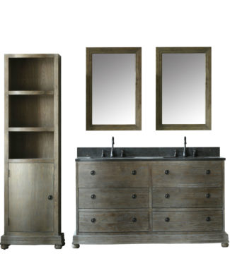 WN7160 WITH TWO MIRRORS WN7124-M AND SIDE CABINET WN7126 Edited