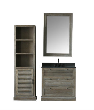 WN7236 WITH MIRROR WN7231-M AND SIDE CABINET 7224-MED