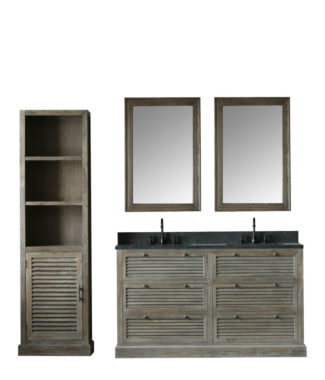 WN7260 WITH TWO MIRRORS WN7224-M AND SIDE CABINET WN7224-MED
