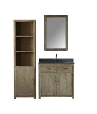 WN7336 WITH MIRROR WN7324-M AND SIDE CABINET WN7322-MED