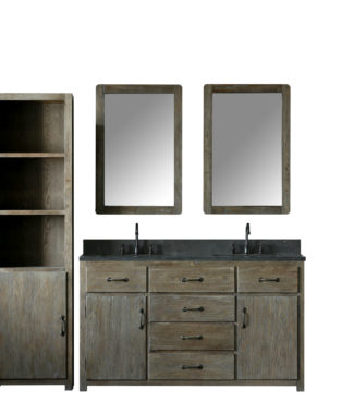 WN7360 WITH TWO MIRRORS WN7324-M AND SIDE CABINET WN7322-MED
