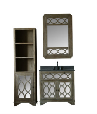 WN7436 WITH MIRROR WN7431-M AND SIDE CABINET WN7424-MED