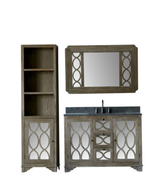 WN7448 WITH MIRROR WN7431-M AND SIDE CABINET WN7424-MED