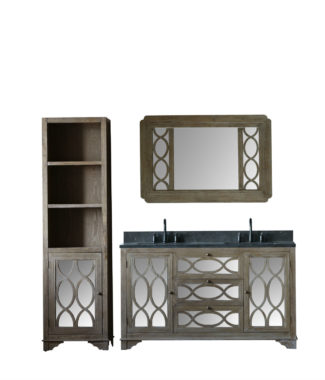 WN7460 WITH MIRROR WN7431-M AND SIDE CABINET WN7424-MED