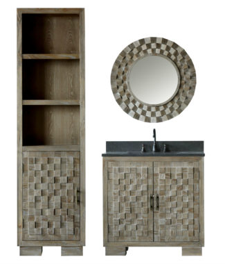 WN7636 WITH MIRROR WN7601-M AND SIDE CABINET WN7622-MED