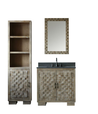 WN7636 WITH MIRROR WN7624-M AND SIDE CABINET WN7622-MED