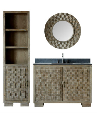 WN7648 WITH MIRROR WN7601-M AND SIDE CABINET WN7622-MED