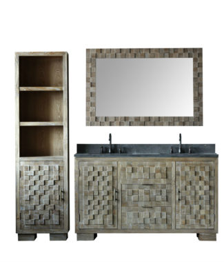 WN7660 WITH MIRROR WN7631-M AND SIDE CABINET WN7622-MED