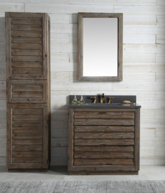 WH8336 WITH MIRROR WH8224-M AND SIDE CABINET WH8020-MED