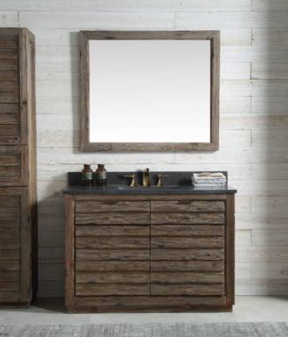 WH8348 WITH MIRROR WH8242-M AND SIDE CABINET WH8020-MED