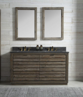 WH8360 WITH TWO MIRRORS WH8242-M AND SIDE CABINET WH8020-MED