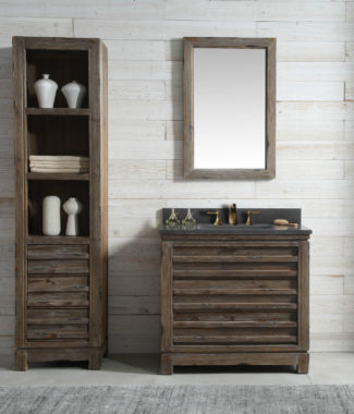 WH8436 WITH MIRROR WH8224-M AND SIDE CABINET WH8120-MED