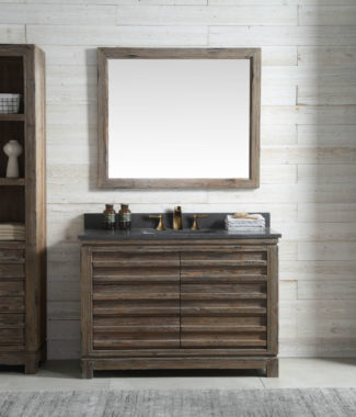 WH8448 WITH MIRROR WH8242-M AND SIDE CABINET WH8120-MED