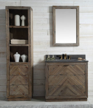 WH8536 WITH MIRROR WH8224-M AND SIDE CABINET WH8220-MED