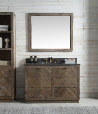 WH8548 WITH MIRROR WH8242-M AND SIDE CABINET WH8220-MED