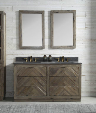 WH8560 WITH TWO MIRRORS WH8224-M AND SIDE CABINET WH8220-MED